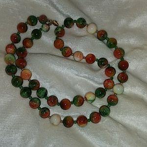 "Jewelry - 27"" Premium Jasper Round Polished Beads 14K GF"